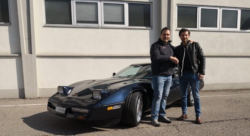 Alex Fontana e la sua Corvette